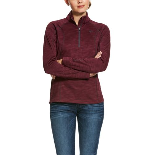 Ariat ® Femmes conquête 2.0 GRAPEWINE 1//2 Zip Sweat-shirt 10028279