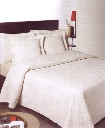 Ariana Cotton Bedspread - Weiß Or Cream - 3ft Single, 4ft6 Double, 5ft KingGröße