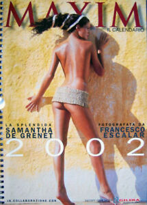 Samantha De Grenet Calendario 2002.Details About Calendar Sexy Samantha De Grenet Calendario Maxim 2002