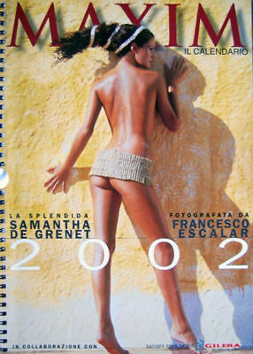 De Grenet Calendario.Calendar Sexy Samantha De Grenet Calendario Maxim 2002 Ebay