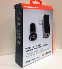 Griffin PowerDuo Universal 10 Watt 2.1 Amp Fast Car Charger iPhone 5 5S 6 7 Plus