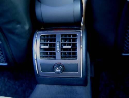 D Audi A6 C5 4B Chrom Rahmen für Lüftungsschacht hinten Edelstahl poliert