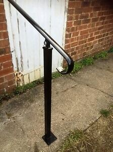 Image Is Loading Wrought Iron Style Exterior Handrail Garden Railing With