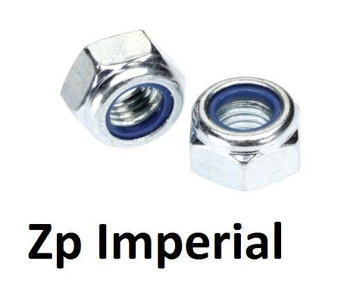 "Qty 500 Hex Nyloc Nut 5//16/"" UNF Zinc Plated Steel Grade 8 Lock Insert ZP"