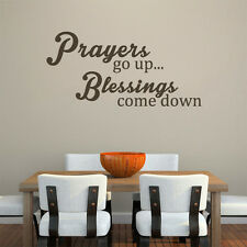 Inspired Wall Decal Prayers Go Up Blessings Come Up Quotes Kitchen Vinyl Decor