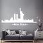 miniature 2 - Adesivo New York Skyline statua libertà stickers murale decalcomania 01