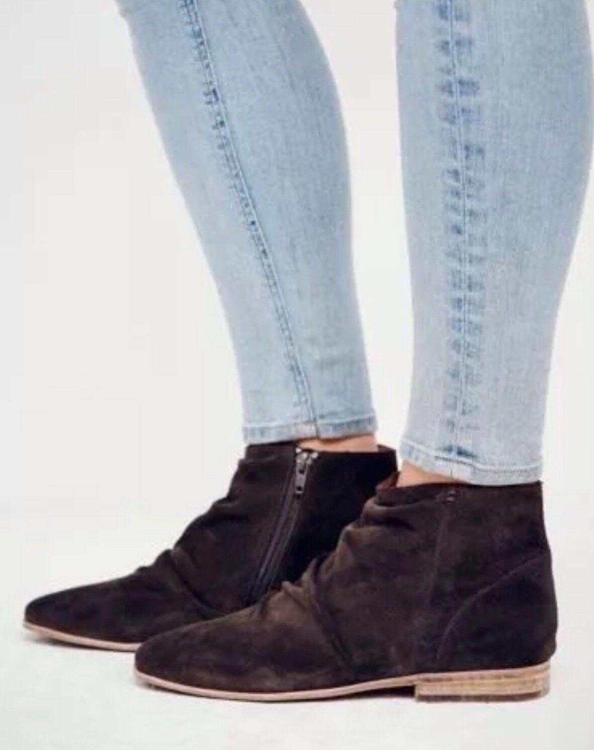 Jeffrey Campbell Khaki Oiled Speir Ankle Boots Slouchy Zipper Booties Sz 10 198