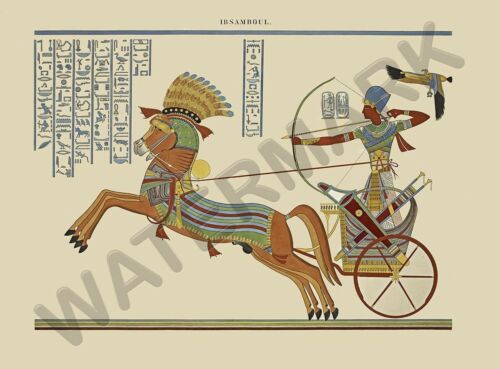 EGYPTIAN CHARIOT MURAL WALL POSTER ART PRINT LF3156