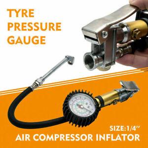 Tyre-Pressure-Inflator-Air-Gun-Compressor-Gauge-Dial-Airline-Car-Truck-Motorbike