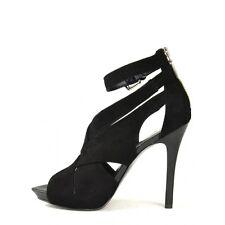 BCBGirls Quod Straps Sandal Suede Black leather sandel Size 8.5