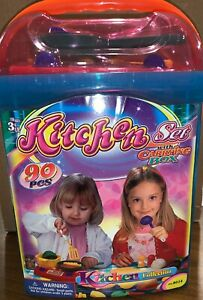 Polyfect Toys Children S Kitchen Set With Carrying Box 90 Piece Play Food Ebay