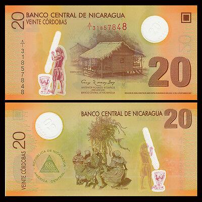 Polymer UNC P-202a 20 cordobas 2007 Nicaragua