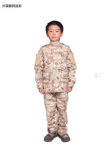 7475 Kids Camo Uniform Boys CS Tactical Military Outfits Training Jacket+Pants