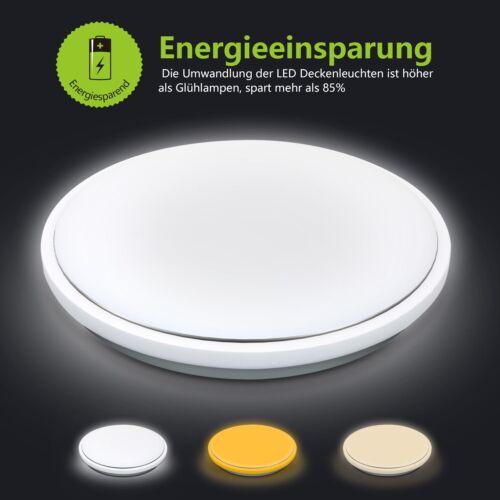 62W LED Deckenleuchte Deckenlampe Dimmbar mit Fernbedienung Wohnzimmer Flur Weiß