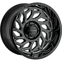 20x12 Centerline 846BM LT6 Gloss Black Machined Wheels 6x135/6x5.5 -44 Set of 4