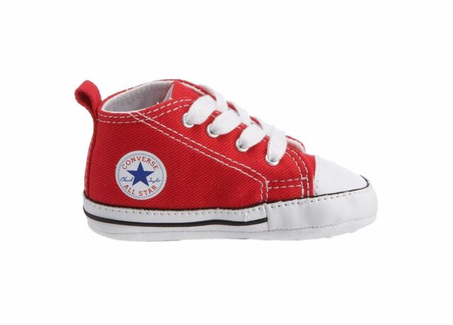 92479c0ef956 Converse First Star 88875 Canvas Baby New Born Crib Shoes Red White Size 1-4