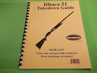 Takedown Manual Guide Ithaca Model 51 Semi-auto Shotgun, Illustrated & Detailed