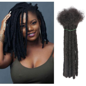 8 Inch 20 Strands Dreadlock Extensions Made From Human Hair Handmade Permanent