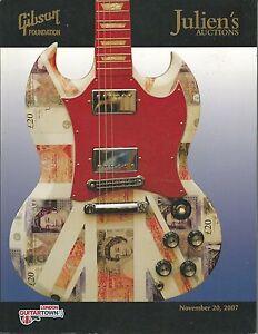 Julien S Gibson Foundation Guitar Charity Auction Catalog 2007 Ebay