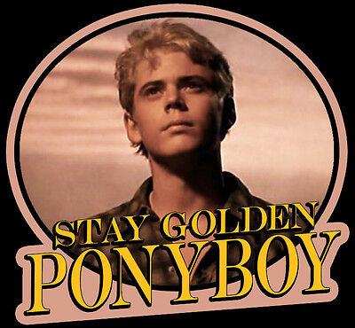 80 S Classic The Outsiders Ponyboy Stay Golden Custom Tee Anysize Anycolor Ebay Pony always seems to have his head just in a little bit up in the i think that johnny was trying to say don't let anyone change you. 80 s classic the outsiders ponyboy stay golden custom tee anysize anycolor ebay