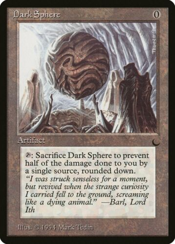 Dark Sphere The Dark PLD Artifact Uncommon MAGIC THE GATHERING CARD ABUGames