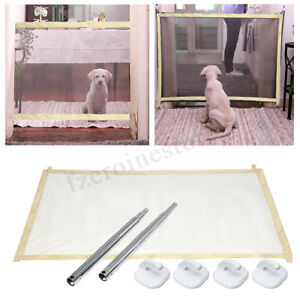 Portable-Pets-Boitier-maille-de-securite-pliage-barriere-de-garde-barrieres-Kit-Pour-Chien-Chat