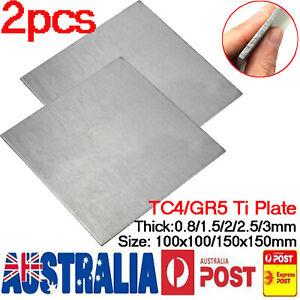 Details about TC4/GR5 Titanium Alloy Plate Ti Panel Sheet Durable Metal  Thick 0 8/2/2 5/3mm