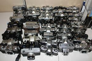 MASSSIVE-Minolta-Pentax-Ricoh-Kodak-Nikon-Canon-Film-Camera-Lot-of-45-FOR-PARTS