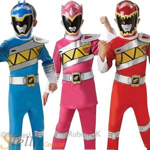 Kids-Deluxe-Power-Rangers-Dino-Cargo-Fancy-Dress-Costume-Chicos-Chicas-Ninos