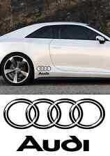 2 stickers autocollant Audi  Bas de caisse  A3 A6 A4 TT RS TTS Q3 Q5 Q7 (PROMO)