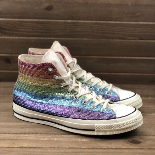 Converse CTA 70 Rainbow Sequin High Top Sneaker 16