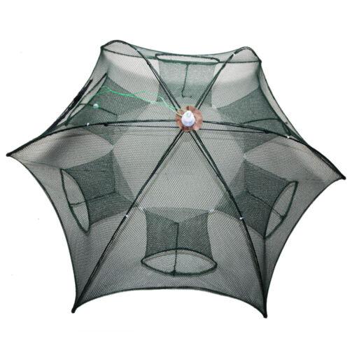 Foldable Crab Shrimp Net Cast Dip Cage Fishing Fish Bait Minnow Crawfish Trap
