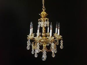 Dollhouse miniature handcrafted 8 arm crystal chandelier 12v 112 image is loading dollhouse miniature handcrafted 8 arm crystal chandelier 12v aloadofball Image collections