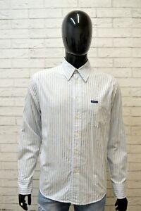 CALVIN-KLEIN-Uomo-Camicia-Camicetta-Maglia-Taglia-L-Shirt-Man-Polo-Manica-Lunga