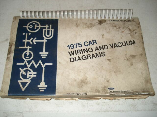 1975 Ford Wiring Diagrams Service Manual Mustang  U0026 More Electrical Shop Repair