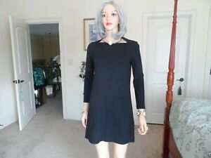 Kate-Spade-New-York-Broome-Street-Black-Ponte-Knit-Sheath-Dress-Size-XS