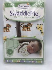 Summer Infant SwaddleMe Sack Wearable Blanket 100/% Cotton Monkey 75060