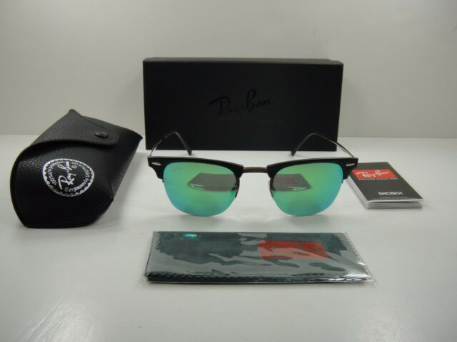 bd091d66c7 RAY-BAN CLUBMASTER LIGHT RAY SUNGLASSES RB8056 176 3R GREEN MIROR LENS 51MM