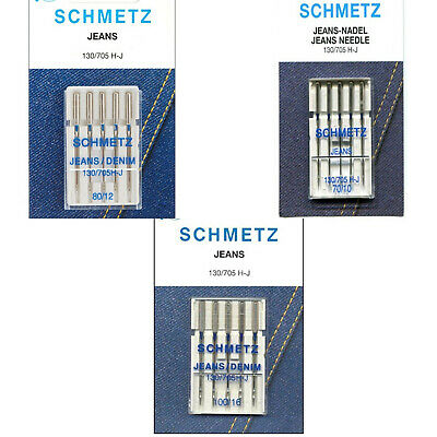 PACK OF 5 SCHMETZ UNIVERSAL NEEDLES FOR DOMESTIC SEWING MACHINES 130//705 H