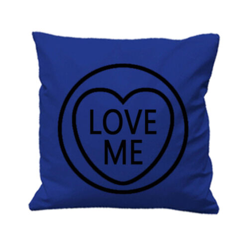 Love Me Heart Cushion Cover Valentine Day Couples Partners His and Hers Love