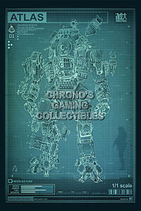 Details about RGC Huge Poster - Titanfall Schematics PS4 XBOX ONE 2 - TAN009