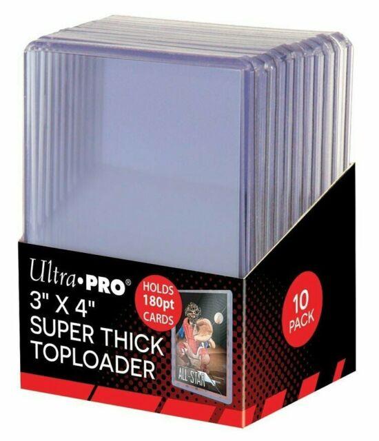 "Hard Plastic Baseball Card Holders 3x4/"" Top Loader Trading Cards Sleeves 4 PACK"