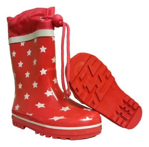 KIDS CHILDRENS GIRLS BOYS WELLIES WELLINGTON RAIN SNOW BOOTS TOGGLE TIE TOP