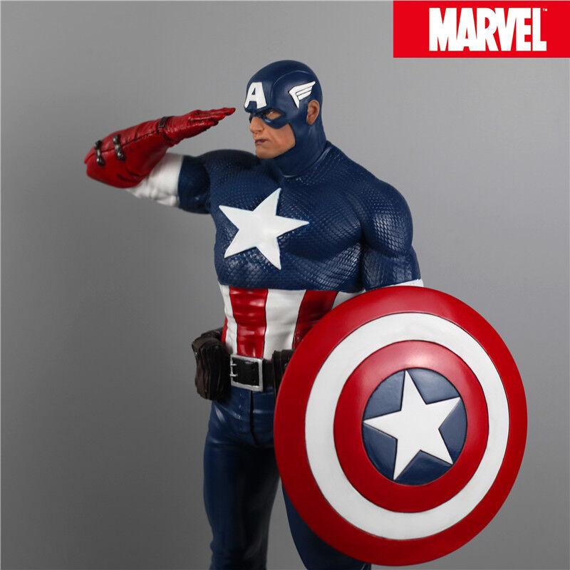 förundras Avengers Captain America Staty 1  4 skala Oversed Figur Double Heads