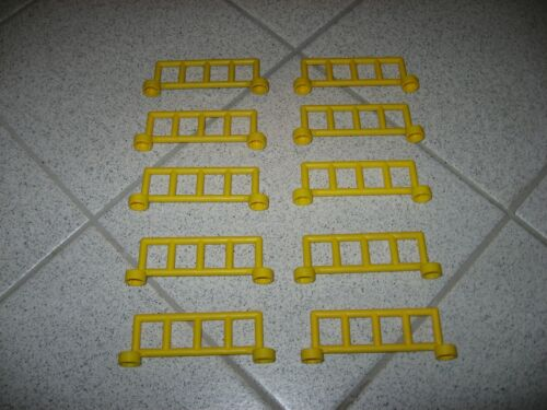 gelb Zaun ca. 9cm lang und 3cm hoch Lego Duplo 10 x Zaunelemente