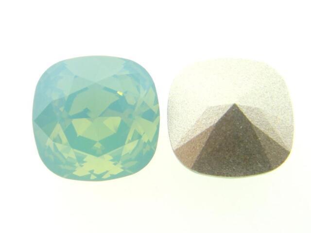 Swarovski Square Cushion Cut Stones Art. 4470 12mm Pacific Opal 3 Pieces cc