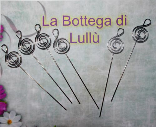 10 Asticelle Chiave di violino Nota musicale portafoto portamemo 12.8 bomboniere