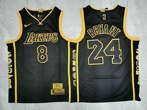 Black Mamba #8 #24 Jersey Kobe Bryant Los Lakers Retirement ...