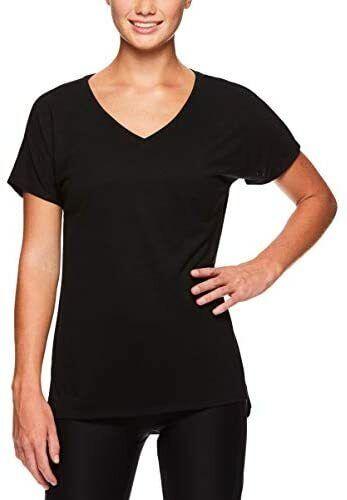 Reebok Women's Plus Size V Neck Workout & Gym T Shirt - Short Sleeve Activewear