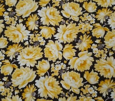 Hideaway BTY Waverly Quilting Treasures Gray White Calico Floral